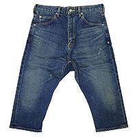 【エフィレボル/.efilevol】Front Sarrouel Narrow Q/S Denim Pants / フロントサルエルナロークロップドデニムパンツ【送料無料】【あす楽対応】【p20】