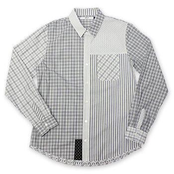 【エフィレボル/.efilevol】クレイジーチェックシャツ Crazy Check Shirt【送料無料】【あす楽対応】【p20】