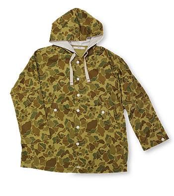 【エフィレボル/.efilevol】CAMO Hooded Jacket【送料無料】【あす楽対応】