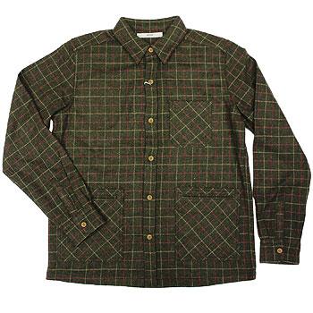 【エフィレボル/.efilevol】ウールチェックシャツ Wool Check Shirt【送料無料】【p20】
