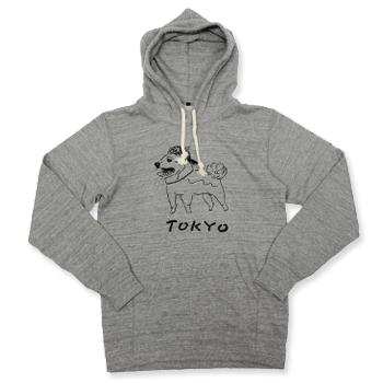 【エフィレボル/.efiLevol 】TOKYO Dog Illust Parka トーキョードッグイラストパーカー【送料無料】【あす楽対応】【p20】