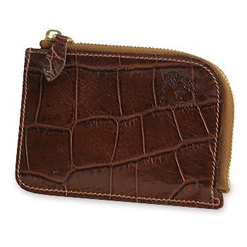 【イルビゾンテ IL BISONTE 財布】クロコダイル型押しLファスナー財布 [商品番号_5432411340]【送料無料】【あす楽対応】【財布 二つ折り財布】