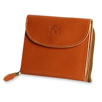 【イルビゾンテ IL BISONTE 財布】ラウンドジップ スクエアウォレット [商品番号_5452300240]【送料無料】【あす楽対応】【財布 二つ折り財布】