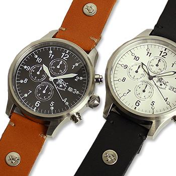 【イルビゾンテ IL BISONTE 腕時計】クロノグラフ(メンズ)オリジナルレザーバンドセット[商品番号_54162304197set]【送料無料】【あす楽対応】【腕時計 文字盤バンドセット】