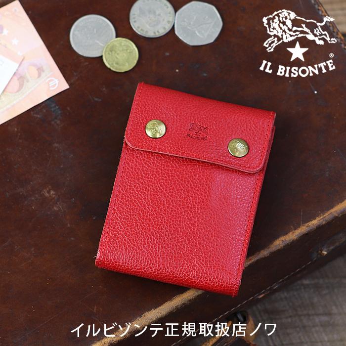 【イルビゾンテ IL BISONTE 財布】二つ折りダブルスナップ2つ折り財布[商品番号_5442409740]【送料無料】【財布 二つ折り財布】【o】