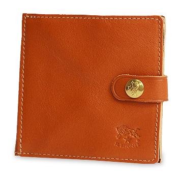 【イルビゾンテ IL BISONTE 財布】スナップボタン止めスクエアウォレット[商品番号_412228]【送料無料】【あす楽対応】【財布 二つ折り財布】
