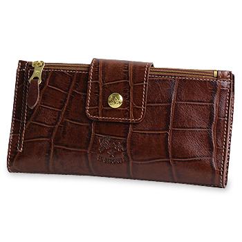 【イルビゾンテ IL BISONTE 財布】クロコダイル型押しクラッチ型長財布 [商品番号_5402306240]【送料無料】【あす楽対応】【財布 長財布】