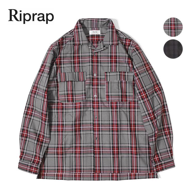【リップラップ/Riprap】SEMI-OPEN COLLAR SHIRTS(セミオープンカラーシャツ)[RRS0801]【送料無料】