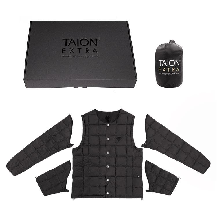 【タイオンエクストラ/TAION EXTRA】Crew neck inner down vest+half sleeve+long sleeve[TAION-EX-04SET]【送料無料】【p10】【m200】