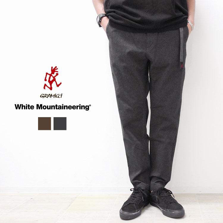 【ホワイトマウンテニアリング/White Mountaineering】WM×GRAMICCI STRETCHED TWILL TAPERED PANTS[WM2073416]【送料無料】
