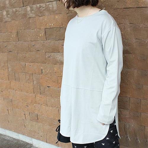 【Liyoca/リヨカ】度詰め天竺ロングTシャツ【送料無料】【p10】【クーポン利用可w200】
