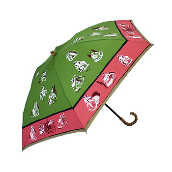【manipuri/マニプリ】スカーフ柄晴雨兼用折り畳み傘【送料無料】