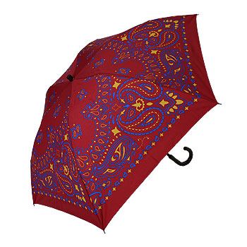 【manipuri/マニプリ】スカーフ柄晴雨兼用折り畳み傘【送料無料】【p10】【クーポン利用可w200】