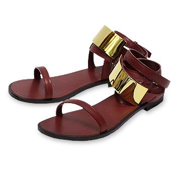 【在庫処分】【ピッピシック/Pippichic】Plate sandal flat 15 プレートサンダル フラット[pp14s-psf10]【送料無料】【あす楽対応】【返品交換キャンセル不可】