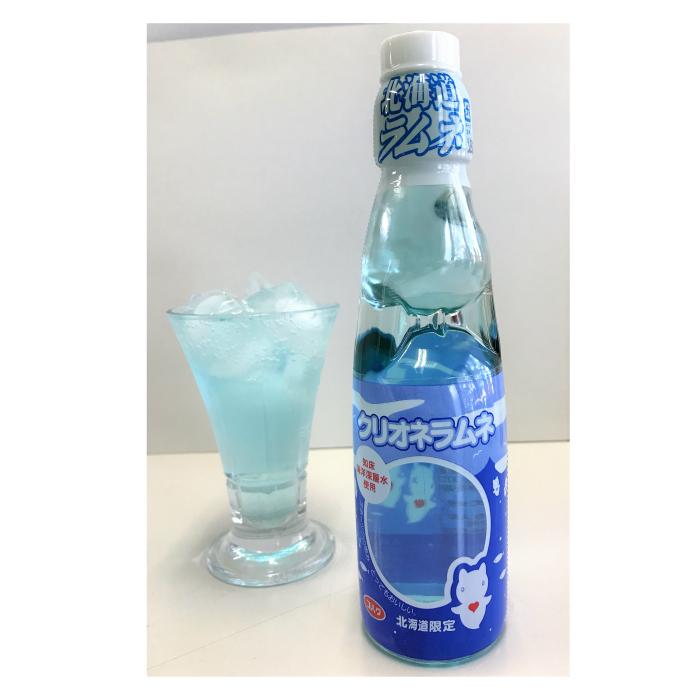 【送料無料】クリオネラムネ/炭酸飲料/清涼飲料水/知床海洋深層水/オホーツク海の妖精/ガラス瓶