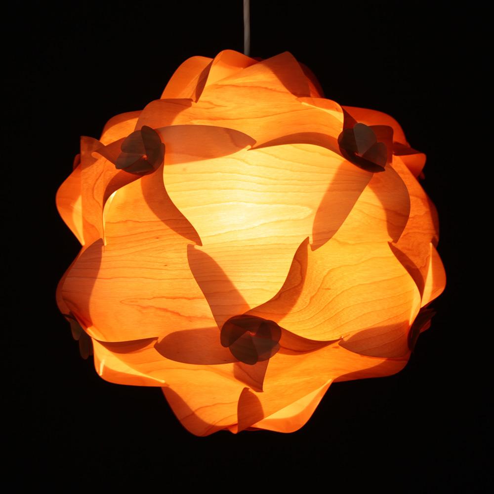 [木星] ペンダントライト インテリア照明/リビング/寝室/木製/天然木/ゼブラウッド