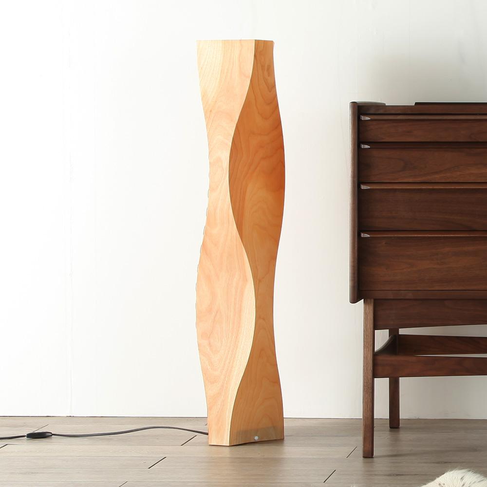 [twisty] フロアランプ スタンドライト/インテリア照明/リビング/寝室/木製/天然木/