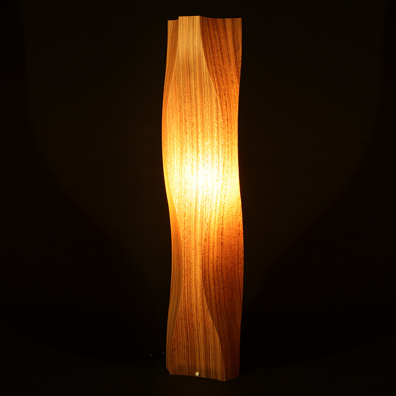 フロアライト スタンドライト ランプ ゼブラウッド インテリア照明 リビング 寝室 玄関 トイレ 木製 天然木 高級 おしゃれ 照明 ライト 和風 レトロ LED 対応 デザイン 新生活 新築 [twisty / ツイスティー]