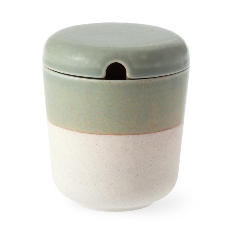 hiiro そら シュガーポット コーヒー マーケット THI012GR 陶磁器 ギフト 梱包 新作続 無料 Sugarpot 日本製 贈り物 可 多治見 誕生日 皿 プレゼント 和食器