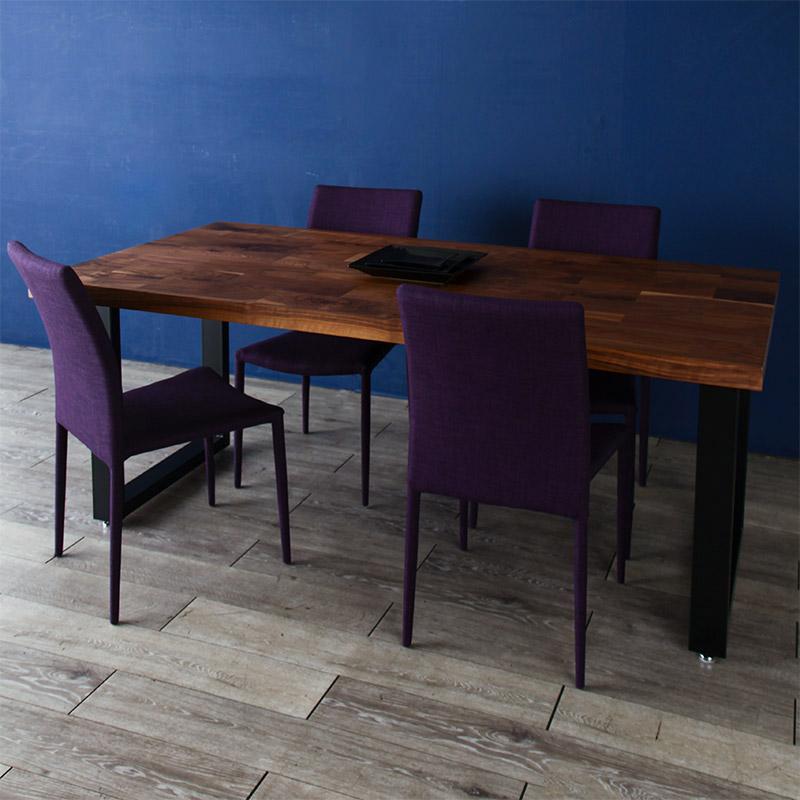 ダイニングテーブル 150cm 180cm ウォールナット 奥行90cm ハイテーブル 天然 木製 高級 送料無料 シンプル 北欧 和風 オフィス 無垢 大川家具 野中木工所 国産 galen