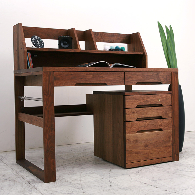 Study Desk Oil Eco Specification System Nol 192188 Learning Natural Wood Walnut Solid Made In An Mid Century Scandinavian Taste