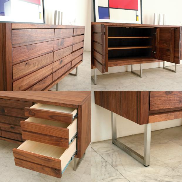 Solid Wood Kitchen Walnut Cabinets: Rakuten Global Market: High-capacity Storage