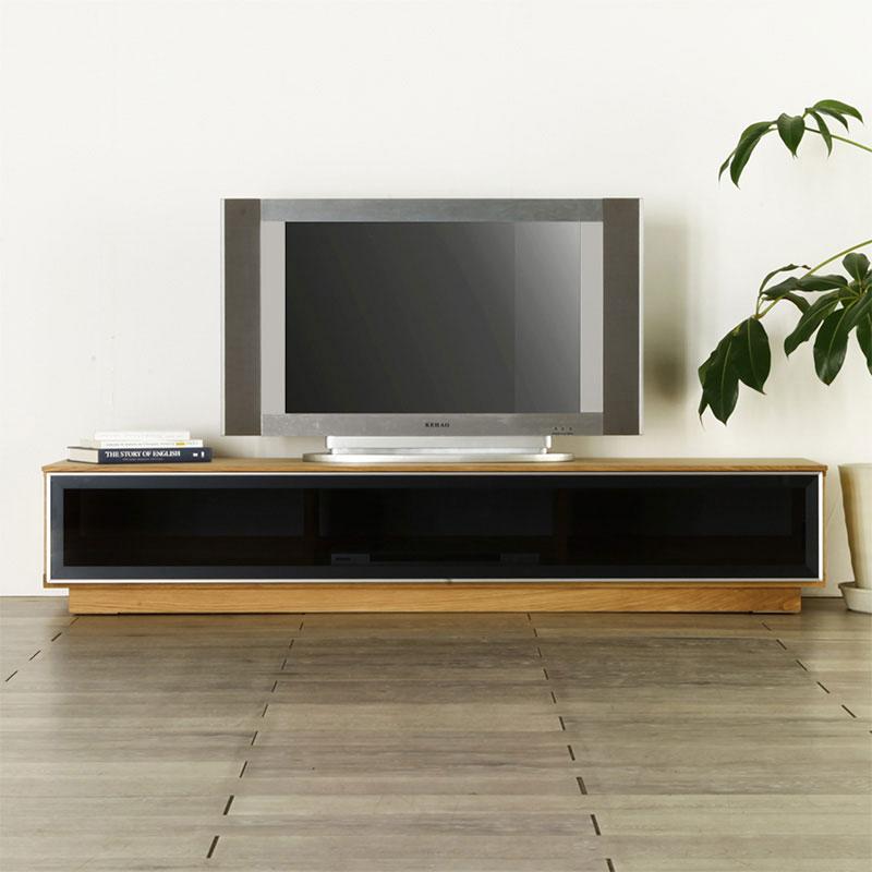 [sophia ソフィア] テレビボード 幅160cm (ウォールナット/ブラックフレーム) テレビ台/ローボード/AVボード/TVボード/北欧/大川家具/野中木工所
