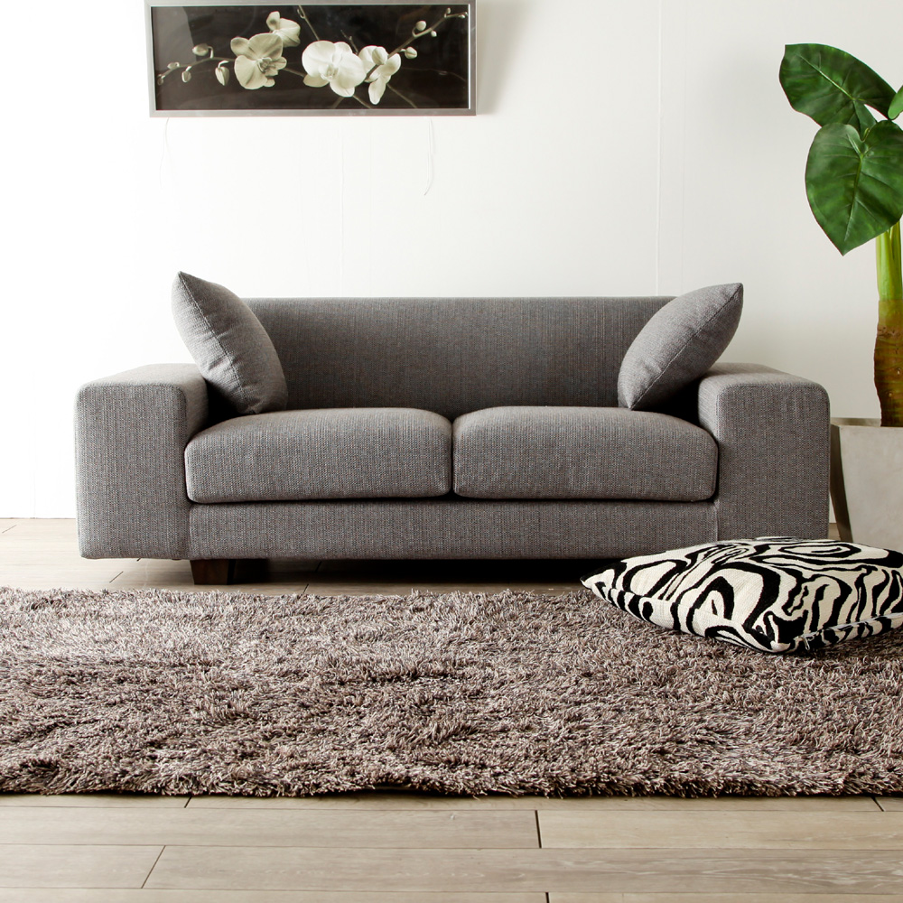 Two 2p Sofa Credit Low Fabric Piece Of Cloth Types Gray Colored North Europe Taste Shin Pull Modern Casual Basic
