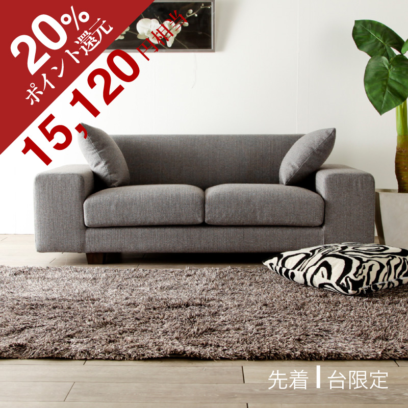 Two 2P Sofa Credit Low Sofa Fabric Piece Of Cloth Types Gray Colored North  Europe Taste Shin Pull Modern Casual Basic