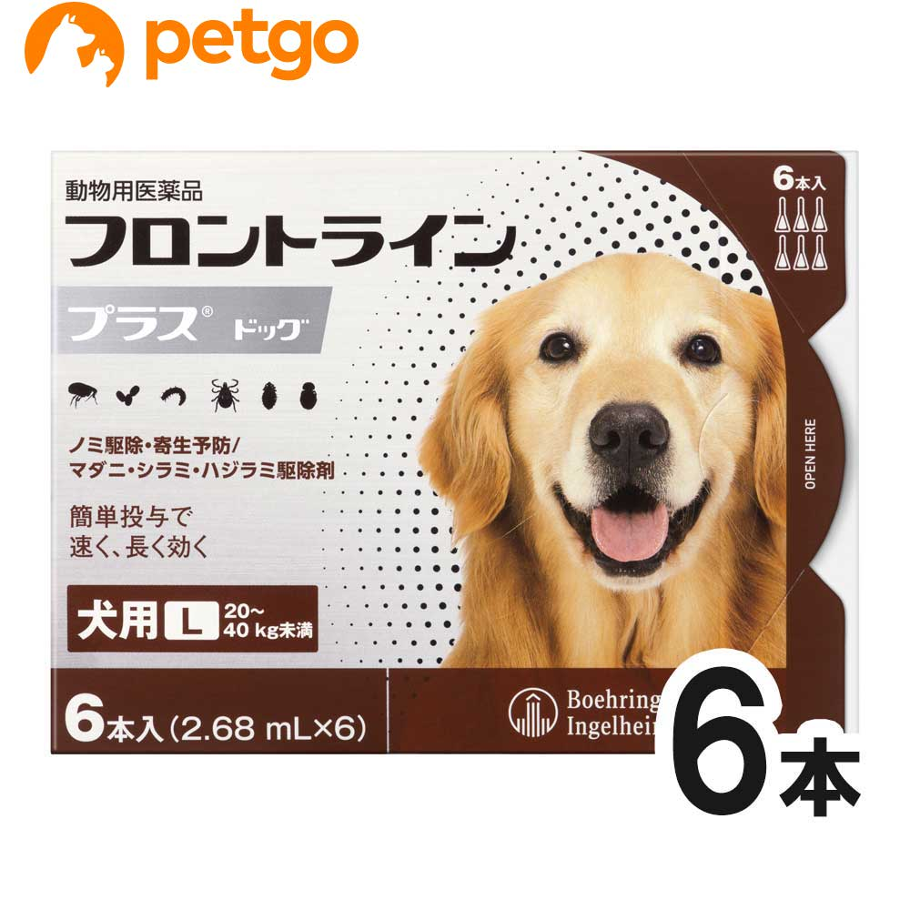 完全送料無料 犬用フロントラインプラスドッグL 20kg~40kg 6本 6ピペット 倉庫 動物用医薬品 あす楽