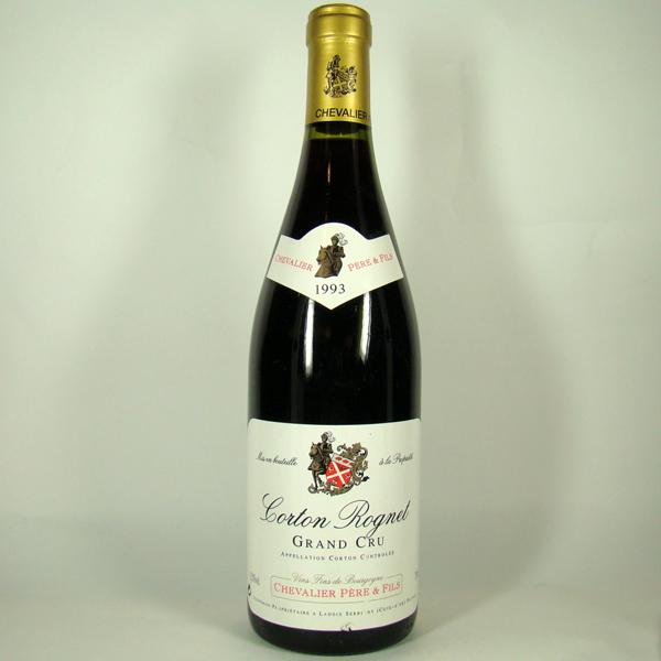 シュヴァリエ・ペール・エ・フィス コルトン・ロニェ グラン・クリュ 1993 750ml