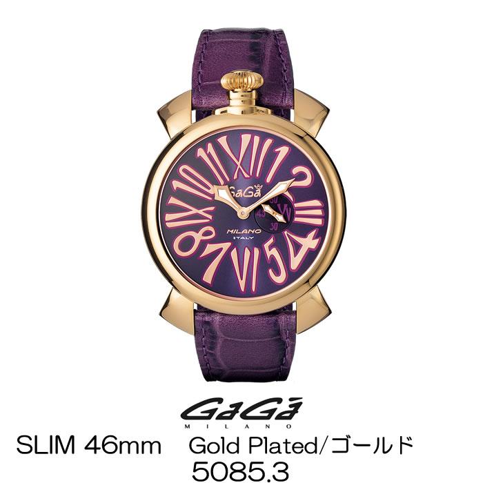 GaGa MILANO SLIM 46MM GOLD PLATED/ガガミラノ スリム 46MM ゴールド 5085.3 国内正規品 正規販売店 新品・未使用