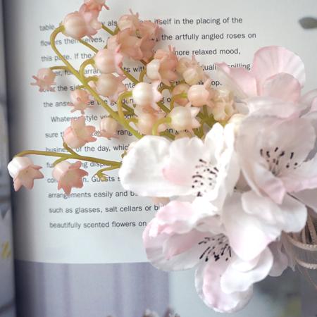 送料無料 ママとお揃い チェルシー ペア コサージュ 桜とスズランお祝いギフト卒業入学退職成人式発表会入園卒園CxBoed