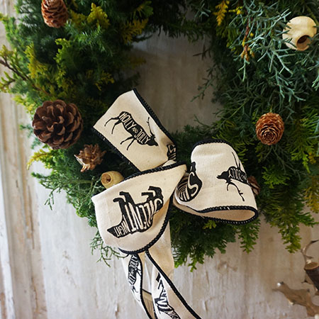 【送料無料】【北欧スタイル】『フレッシュ ノルディック リース』-Lサイズ-直径45cm クリスマスリース 生花 フレッシュ クリスマス 玄関 壁飾り フィンランド インテリア 店舗ディスプレイ ウェルカムリース ショップディスプレイ クリスマス飾り