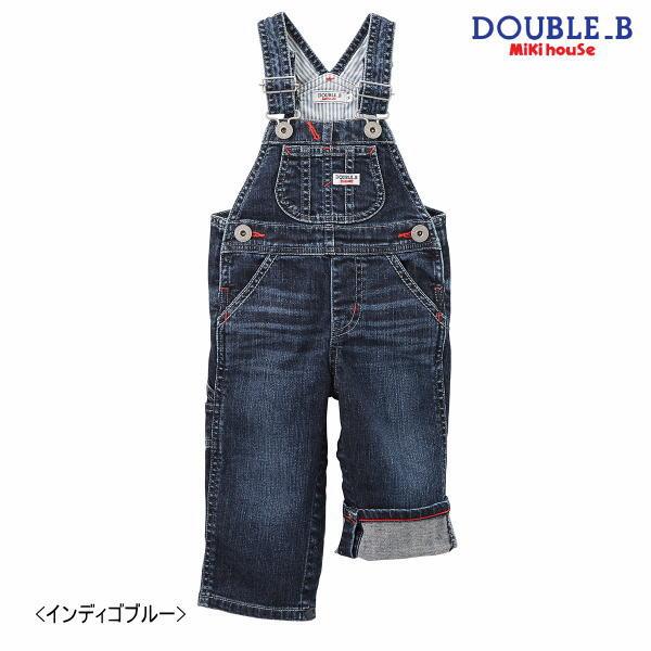 【ポイント20倍(スーパーSALE期間中限定)】ダブルB ミキハウス Double B by MIKIHOUSEデニム オーバーオールMH20