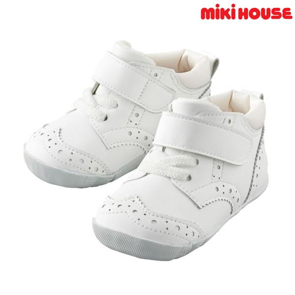 【ポイント20倍(スーパーSALE期間中限定)】ミキハウス MIKIHOUSE ウィングチップファーストベビーシューズ【日本製靴】【送料無料】MH20