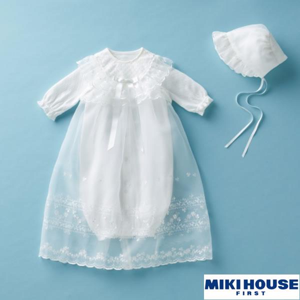 ミキハウス MIKIHOUSE 清楚なセレモニードレス3点セット【日本製】【ベビー服】【送料無料】