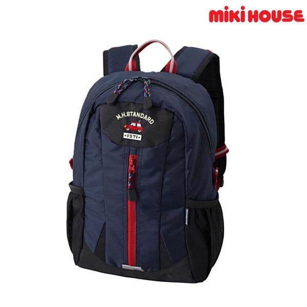 ミキハウス【MIKIHOUSE】 MHカー チェストベルト付きリュック【容量8リットル】 【送料無料】 【キッズ】