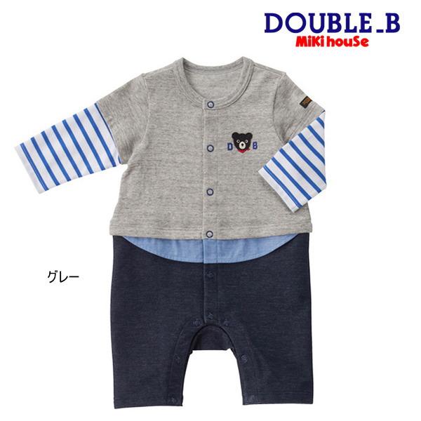 14f9722c9adac 楽天市場 ダブルB(ミキハウス) Double B by MIKIHOUSE 重ね着風ボーダー ...