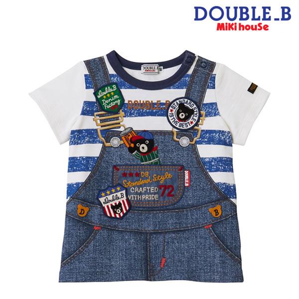 【ポイント20倍(スーパーSALE期間中限定)】ダブルB(ミキハウス) Double B by MIKIHOUSE だまし絵半袖Tシャツ【日本製】【キッズ】MH20