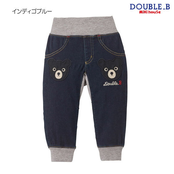 ダブルB(ミキハウス) Double B by MIKIHOUSE ベアアップリケジョガー風パンツ【日本製】【べビー】【キッズ】