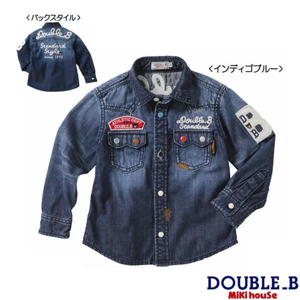 ダブルB(ミキハウス) ウエスタンテイストのデニムシャツ【送料無料】 Double B by MIKIHOUSE 【ベビー】【キッズ】
