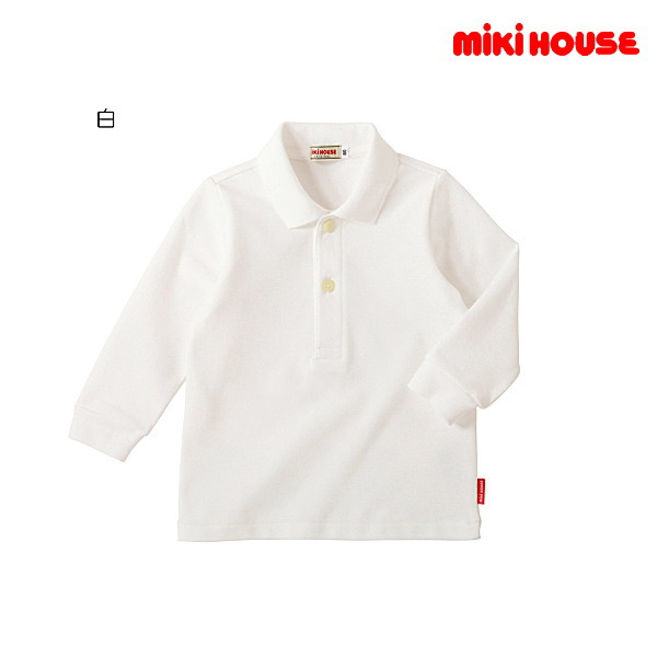 80cm→150cm ミキハウス正規販売店 MHフェア 業界No.1 ミキハウス 在庫処分 日本製 長袖ポロシャツ メール便可 MIKIHOUSE