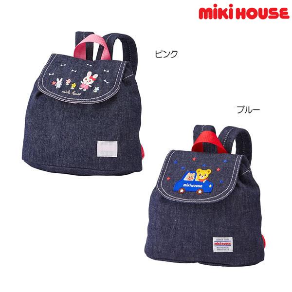 ミキハウス(MIKIHOUSE) プッチー&うさこデニムベビーリュック【日本製)