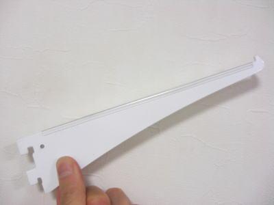 ロイヤル A-10 ガラス棚板専用ブラケット水平ブラケット 単品Aホワイト 呼び名180(実寸法187ミリ)8本まで1通のメール便可
