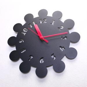 掛け時計【送料無料】GHOステンレスレーザーカット掛け時計D-06【楽ギフ_名入れ】【楽ギフ_のし】掛時計 おしゃれ【10P01Nov14】