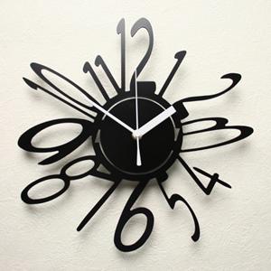 掛け時計【送料無料】GHOステンレスレーザーカット掛け時計TD-03【楽ギフ_のし】掛時計 おしゃれ【10P01Nov14】