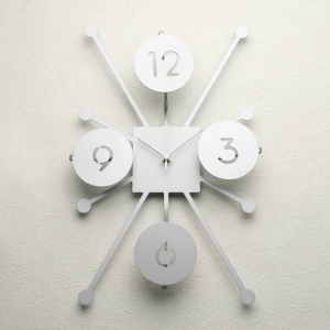 掛け時計【送料無料】GHOステンレスレーザーカット掛け時計TD-02【楽ギフ_のし】掛時計 おしゃれ【10P01Nov14】
