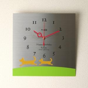 掛け時計【送料無料】GHOステンレス掛け時計S-02「DOG」【楽ギフ_名入れ】【楽ギフ_のし】掛時計 おしゃれ【10P01Nov14】