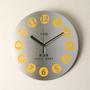 掛け時計【送料無料】GHOステンレス掛け時計D-01【楽ギフ_名入れ】【楽ギフ_のし】掛時計 おしゃれ【10P01Nov14】